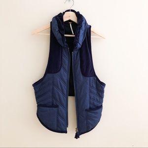 Free People velvet puffer vest 130